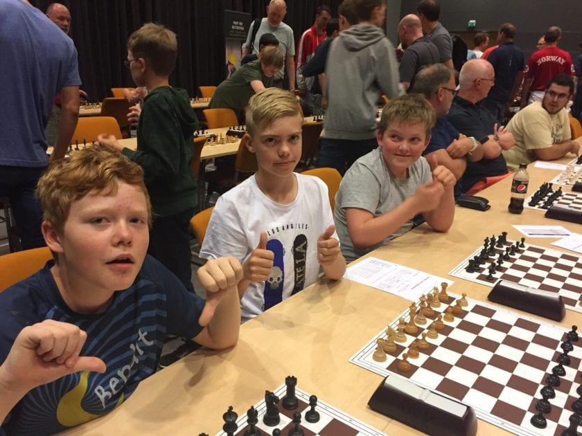 Spillere fra Hell Sjakklubb i NM.