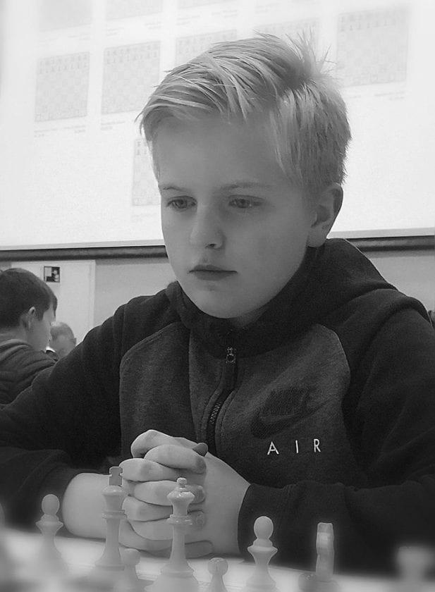 Sterk juniorspiller i Hell Sjakklubb