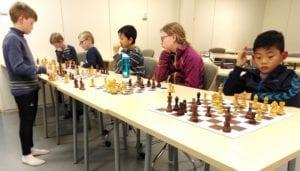 Sjakktrening på Tirsdagsakademiet i Trondheim - Nidaros Idrettsungdomsskole. Lær sjakk!
