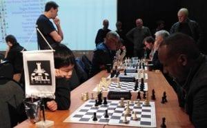 Sjakk i Olavshallen med Hell Sjakklubb - VM og Magnus Carlsen på NRK og storskjerm.