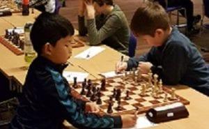 Unge og lovende sjakkspillere fra Hell Sjakklubb og Trøndelag.