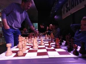 Sjakk i Olavshallen med Hell Sjakklubb.