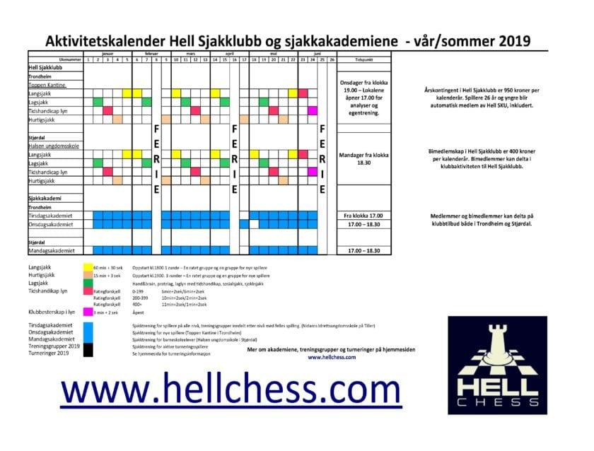 Hell Sjakklubb - kontinuerlig aktivitet