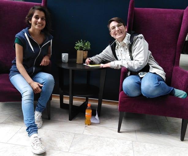 Parisa Akbarpour og Kristin Ribe - Scandic Hell Grand Prix 2019.