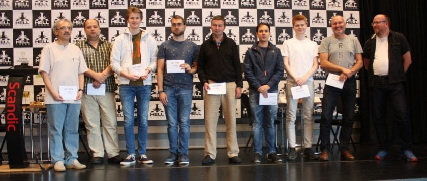 Bence Korpa won Hell Chess International 2019 with 8 points out of 10.